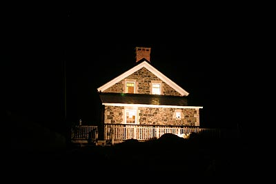 Nighttime view August 2004
